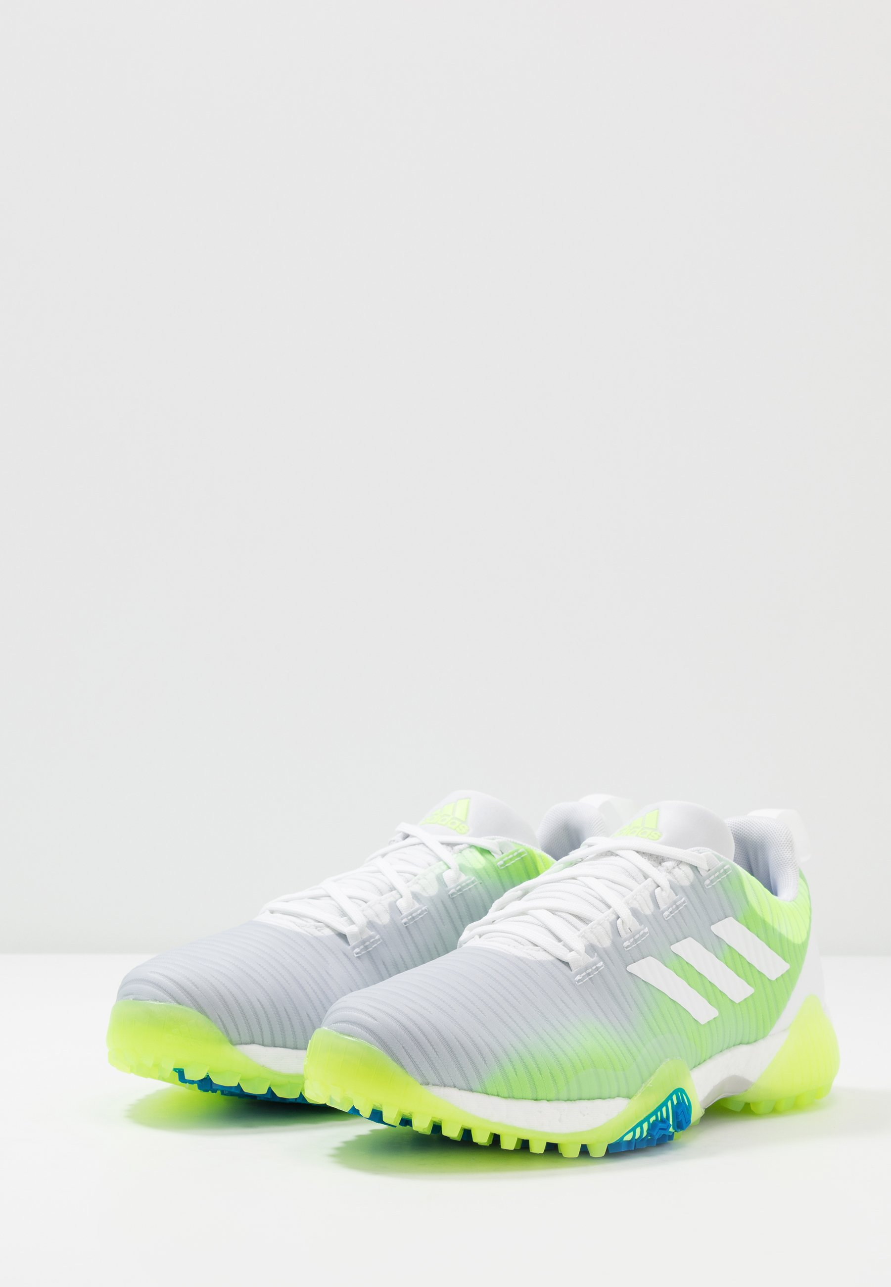 Adidas Golf Codechaos - Golfskor Footwear White/signal Green/glory Blue