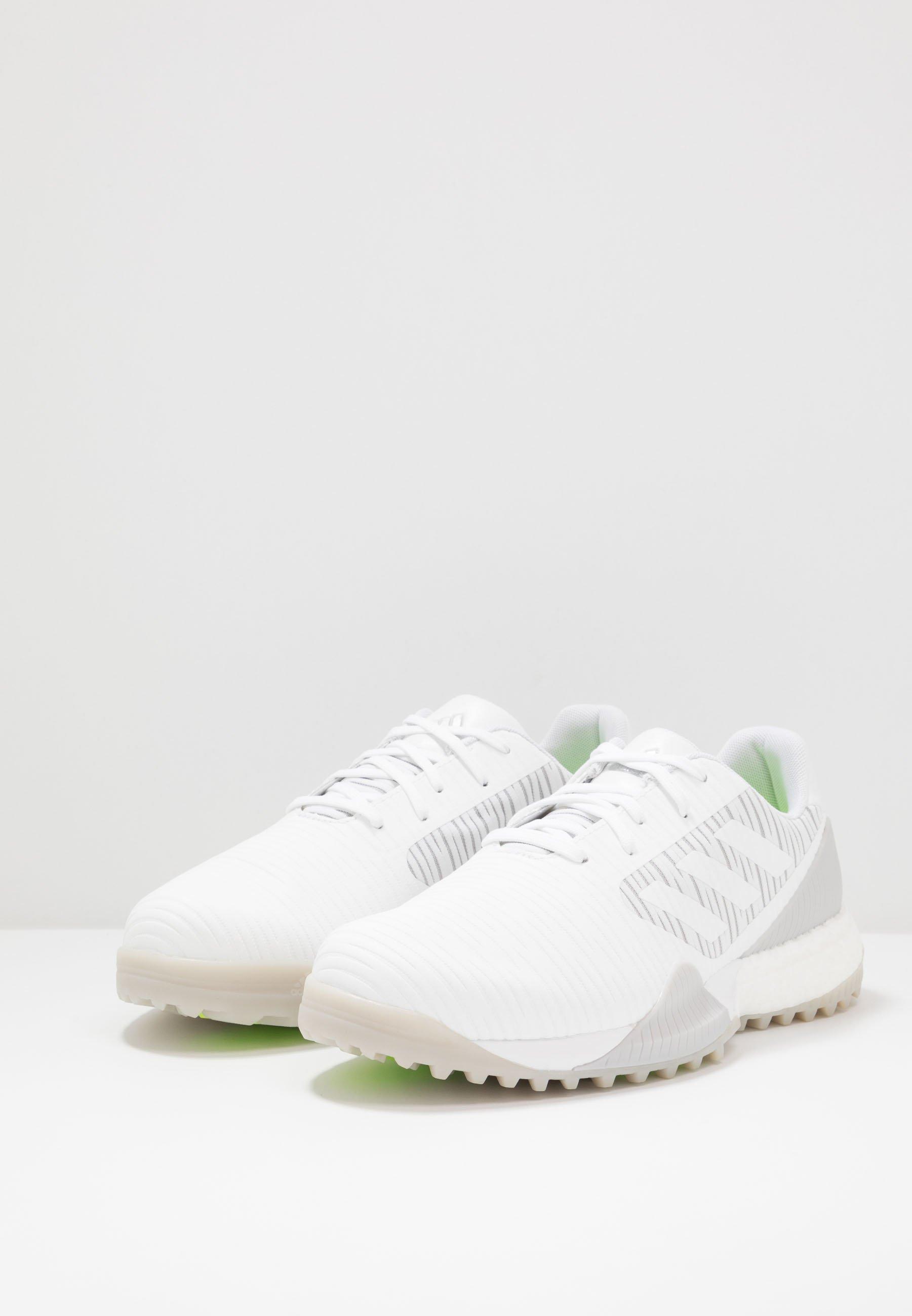 Adidas Golf Codechaos Sport - Golfskor Footwear White/solid Grey/signal Green