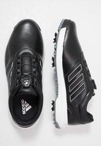 adidas Golf - CP TRAXION BOA - Golfschuh - core black/footwear white/silver metallic - 1