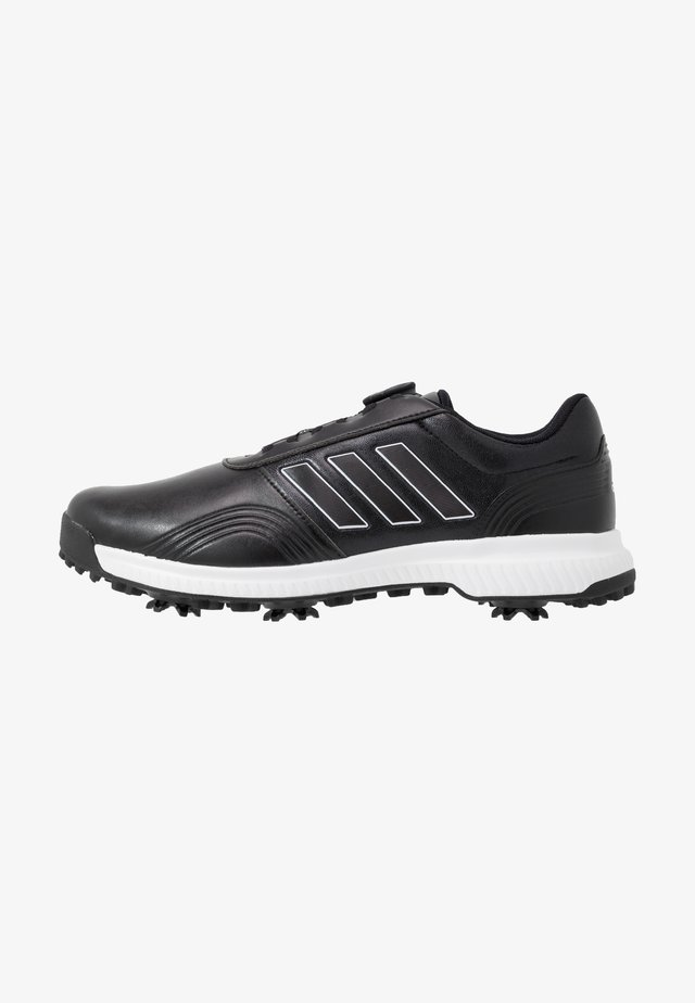 CP TRAXION BOA - Obuwie do golfa - core black/footwear white/silver metallic