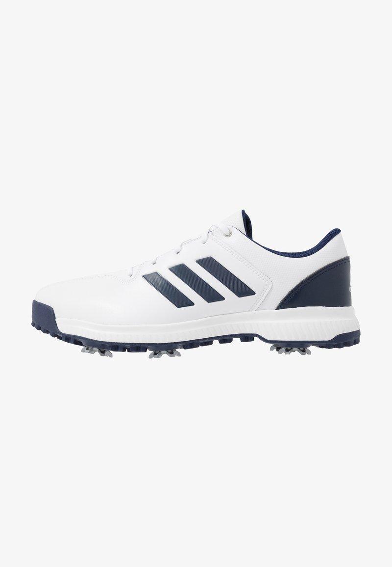 adidas Golf - CP TRAXION - Golfové boty - footwear white/dark blue/silver metallic