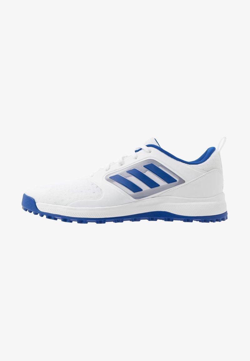 adidas Golf - CP TRAXION SL - Golfsko - footwear white/team royal blue/silver metallic