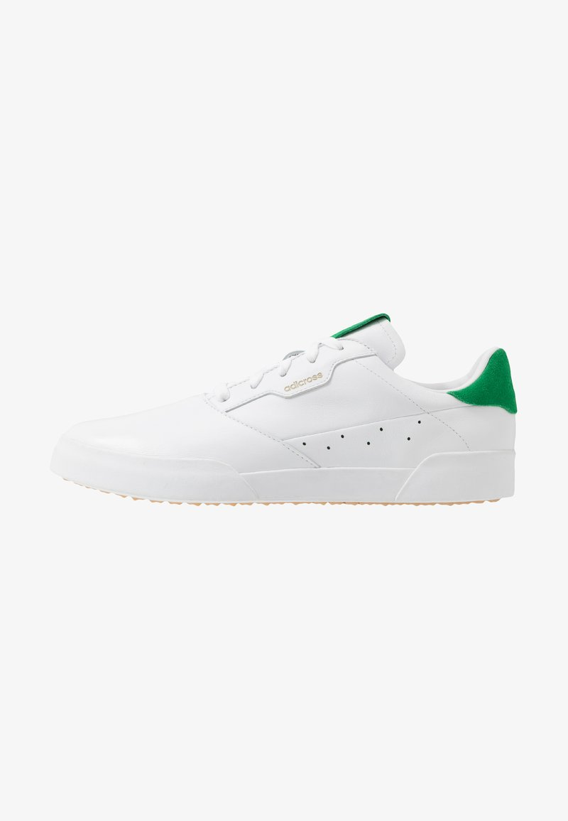 adidas Golf - ADICROSS RETRO - Golfové boty - footwear white/green