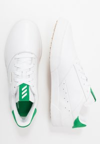adidas Golf - ADICROSS RETRO - Golfové boty - footwear white/green - 1