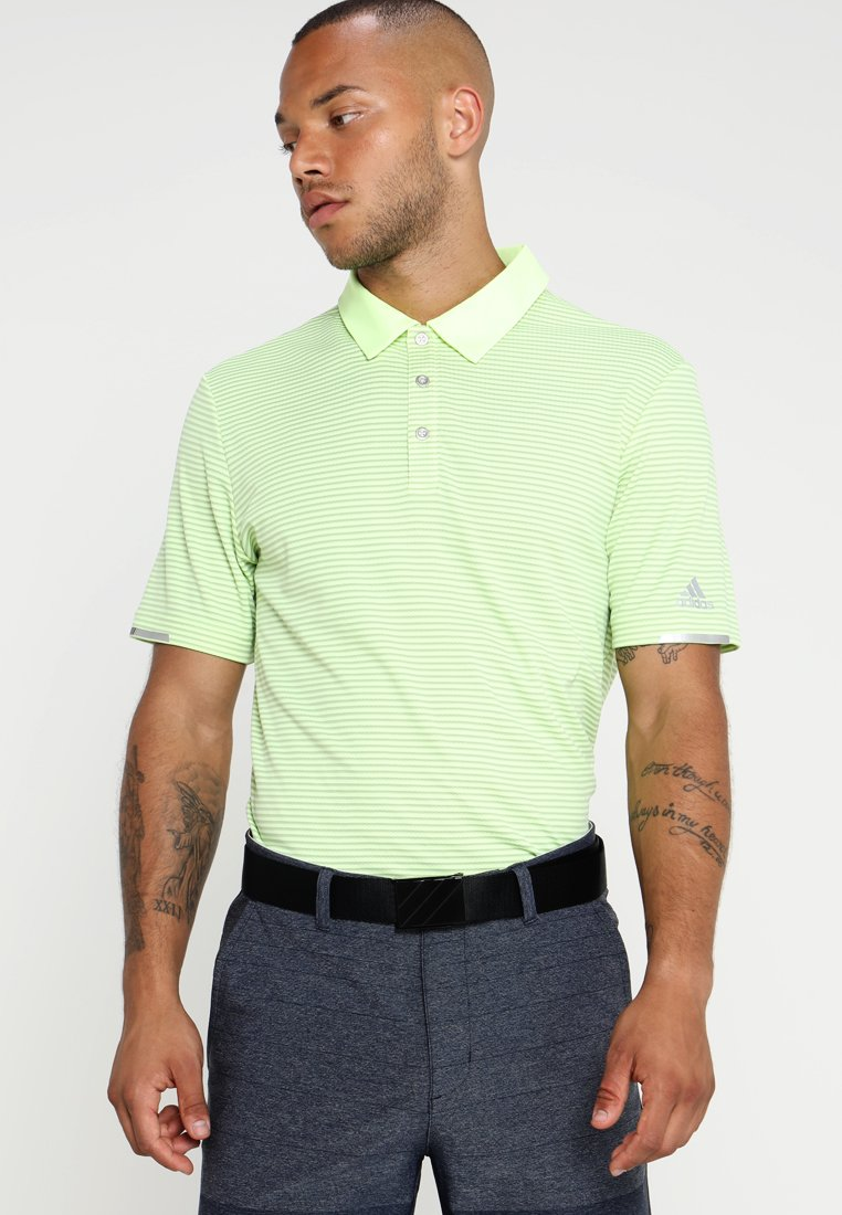 adidas Golf - CLIMACHILL TONAL STRIPE - Funktionstrøjer - hi-res yellow