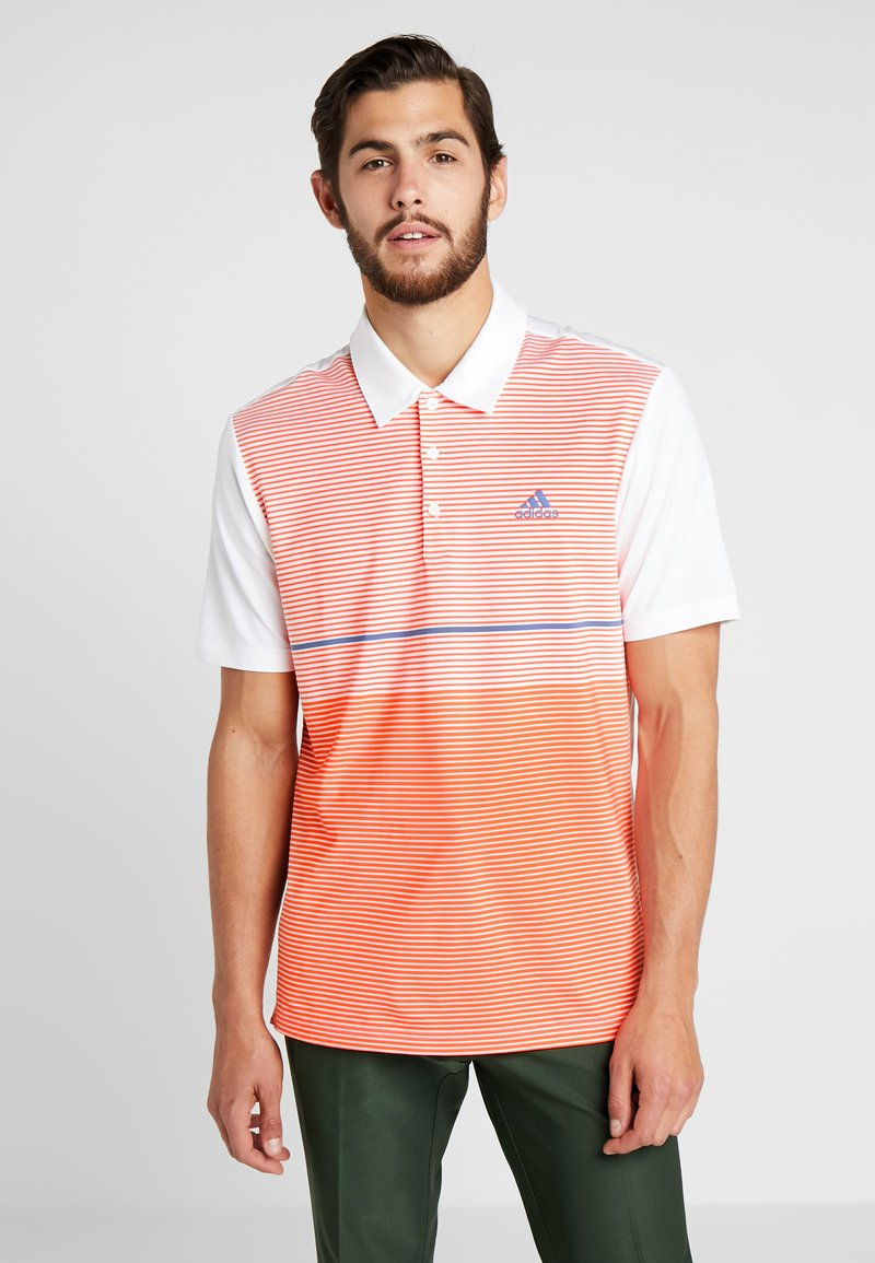 adidas Golf - Piké - white/coral