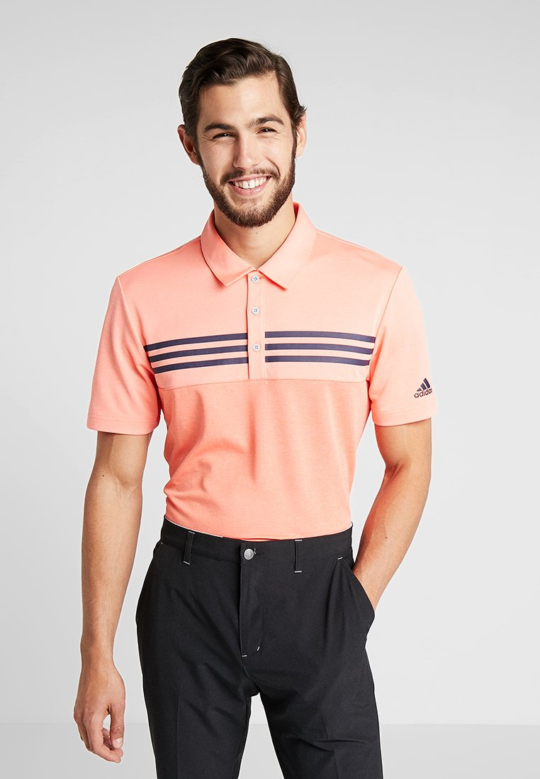 adidas Golf - BLOCK - Polo shirt - coral melange