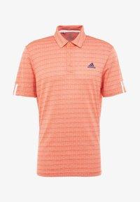 adidas Golf - STRIPE COLLECTION - Polotričko - amber tint/signal coral - 3