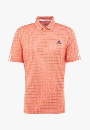 STRIPE COLLECTION - Polo - amber tint/signal coral