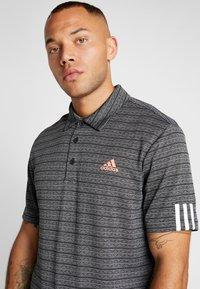 adidas Golf - STRIPE COLLECTION - Koszulka polo - black/grey three - 4