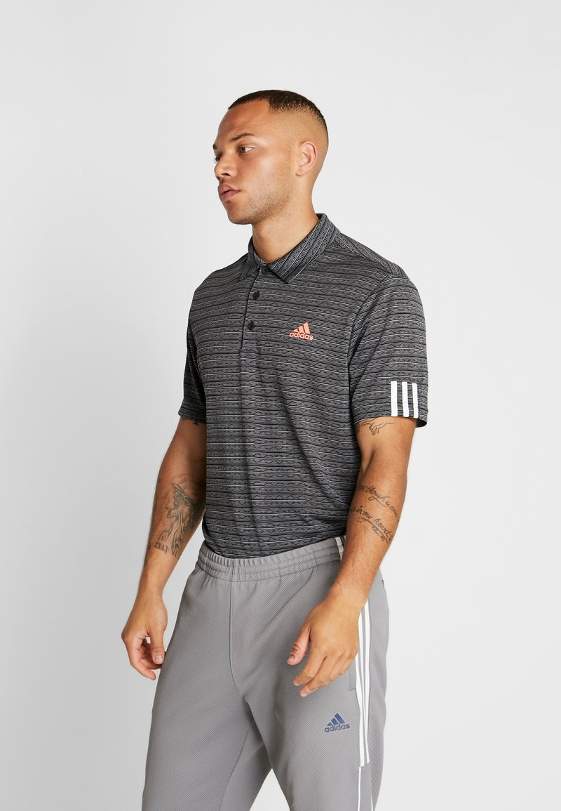 adidas Golf - STRIPE COLLECTION - Koszulka polo - black/grey three