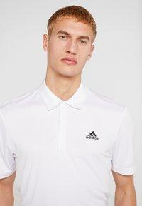 adidas Golf - STRIPE BASIC - Polo - white/black - 3