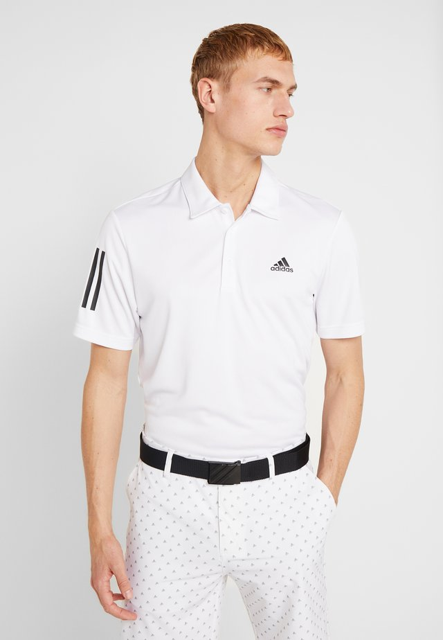 STRIPE BASIC - Polo shirt - white/black