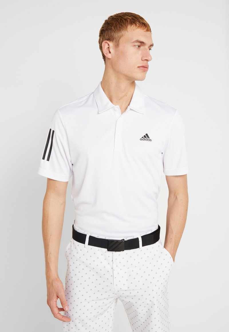 adidas Golf - STRIPE BASIC - Polo - white/black