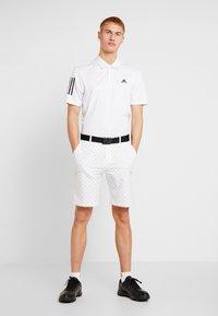 adidas Golf - STRIPE BASIC - Polo - white/black - 1