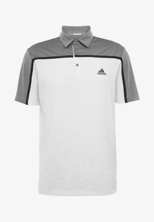 Poloshirt - white/grey three melange