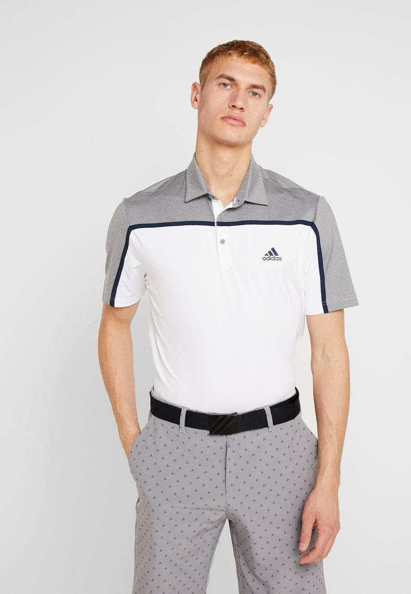adidas Golf - Poloshirts - white/grey three melange