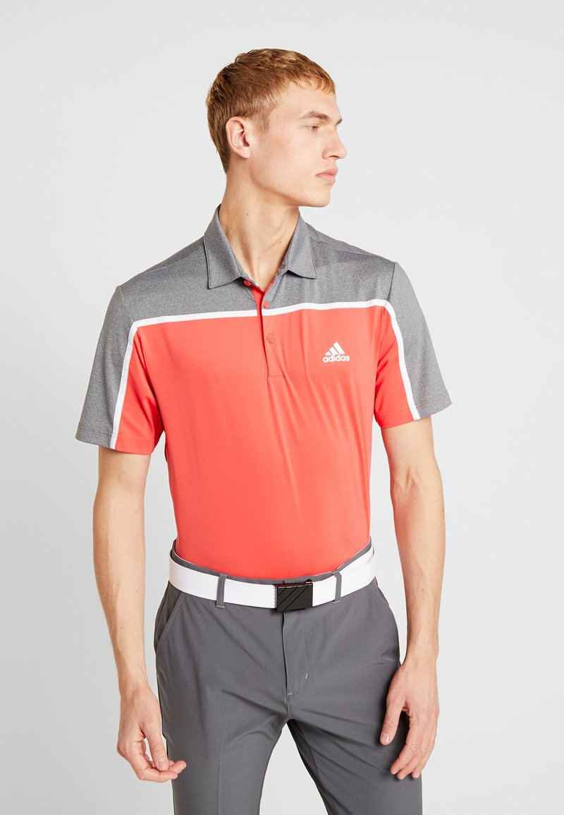 adidas Golf - Polo - real coral/grey four melange