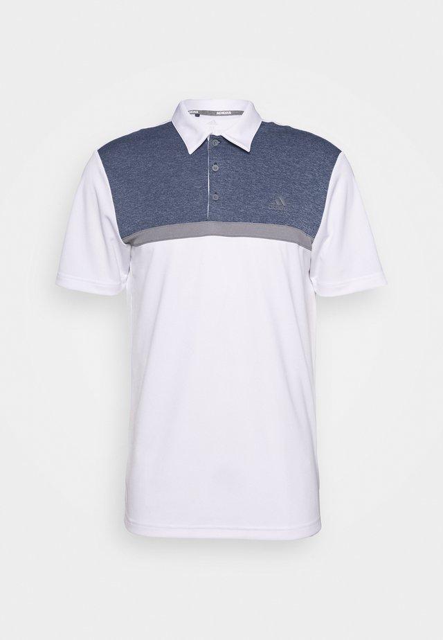 COLORBLOCK NOVELTY - Polo shirt - white/collegiate navy melange