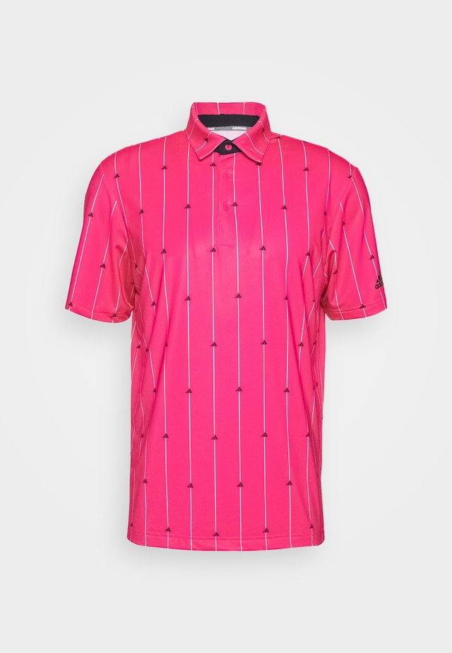 ULTIMATE SPORTS GOLF SHORT SLEEVE - Koszulka sportowa - power pink/black/grey two