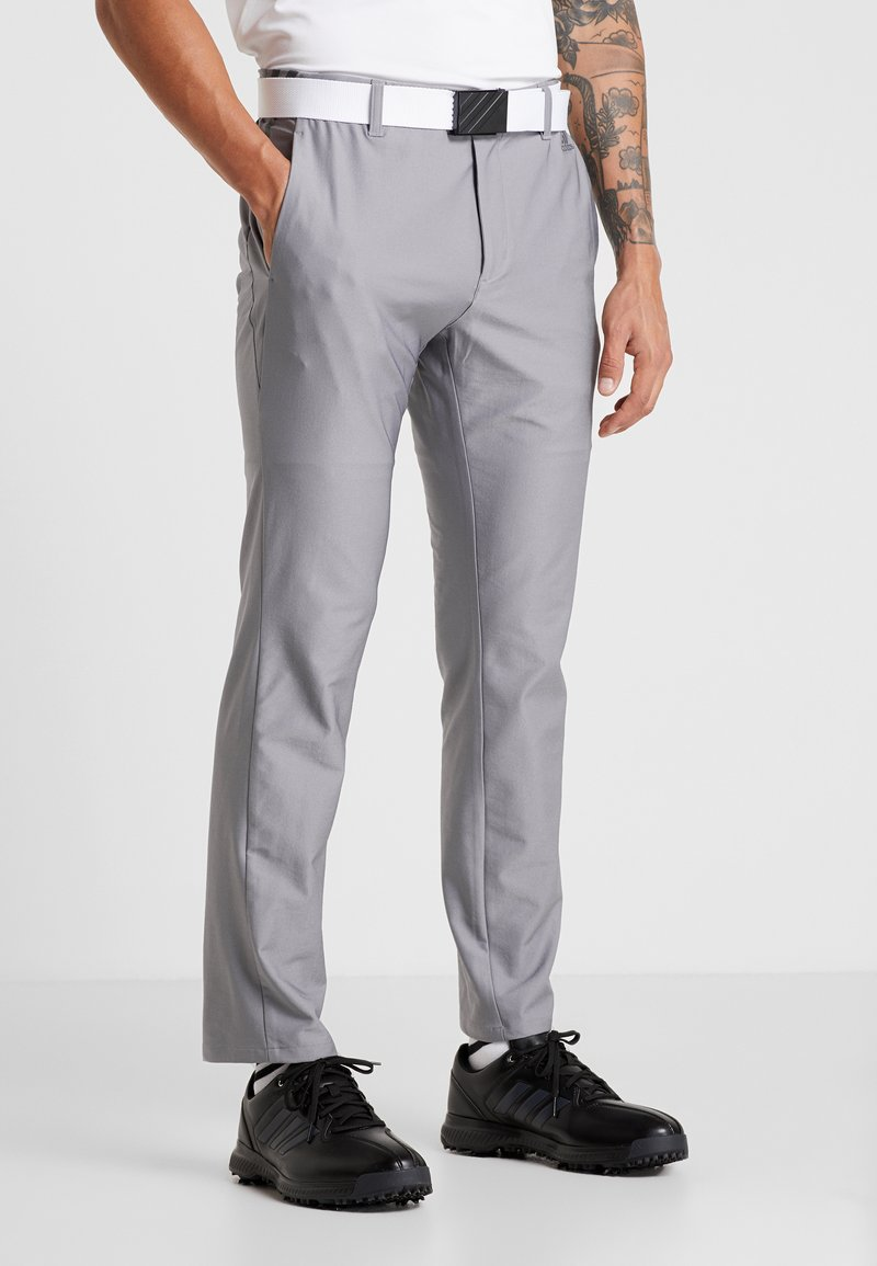 adidas Golf - ULTIMATE365 3 STRIPES TAPERED PANTS - Friluftsbyxor - grey heather