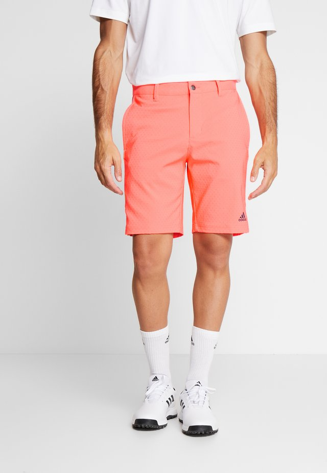 COLLECTION DOBBY - kurze Sporthose - signal coral