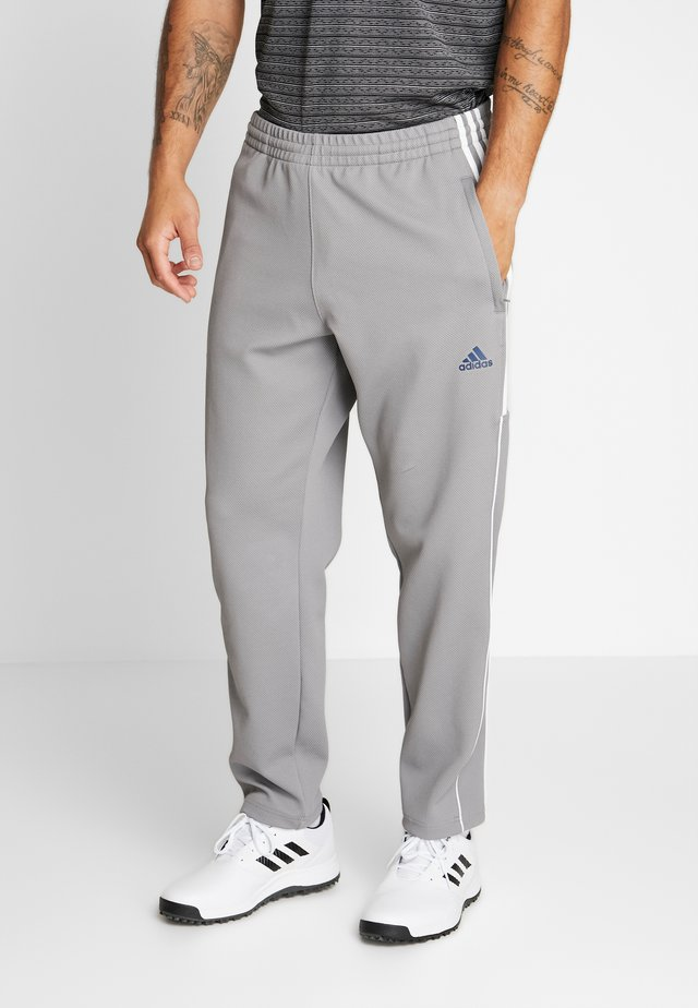 STRIPE COLLECTION DOBBY PANT - Tracksuit bottoms - grey three