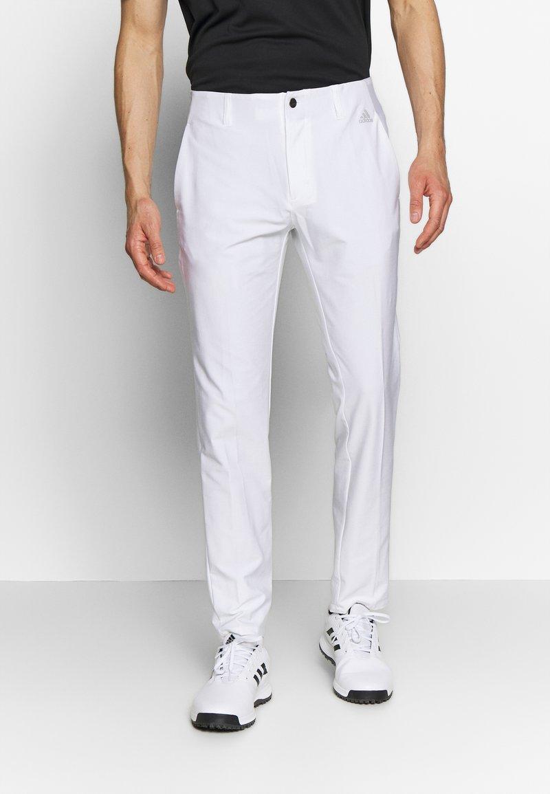 adidas Golf - ULTIMATE TAPERED PANT - Kangashousut - white