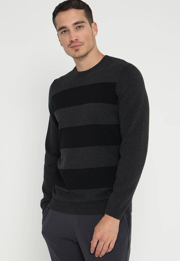 adidas Golf - BLENDED - Strickpullover - black heather