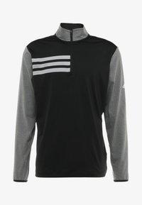 adidas Golf - 3 STRIPES COMPETITION 1/4 ZIP - Langærmede T-shirts - black heather/black - 3