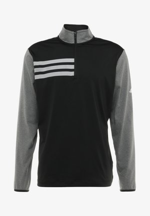 3 STRIPES COMPETITION 1/4 ZIP - Long sleeved top - black heather/black