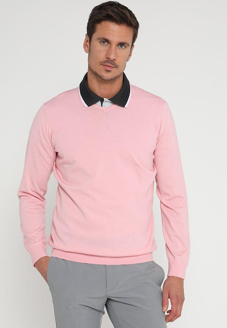 adidas Golf - ADIPURE REFINED V NECK - Pullover - true pink