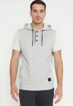 SHORT SLEEVE HOODIE - Camiseta estampada - raw white