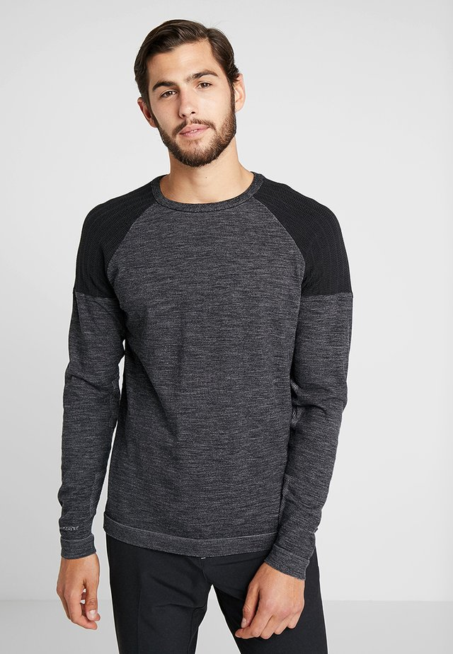 Strickpullover - black heather