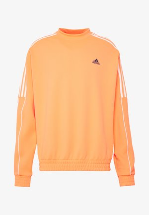 STRIPE COLLECTION DOBBY CREW - Sweatshirt - signal coral