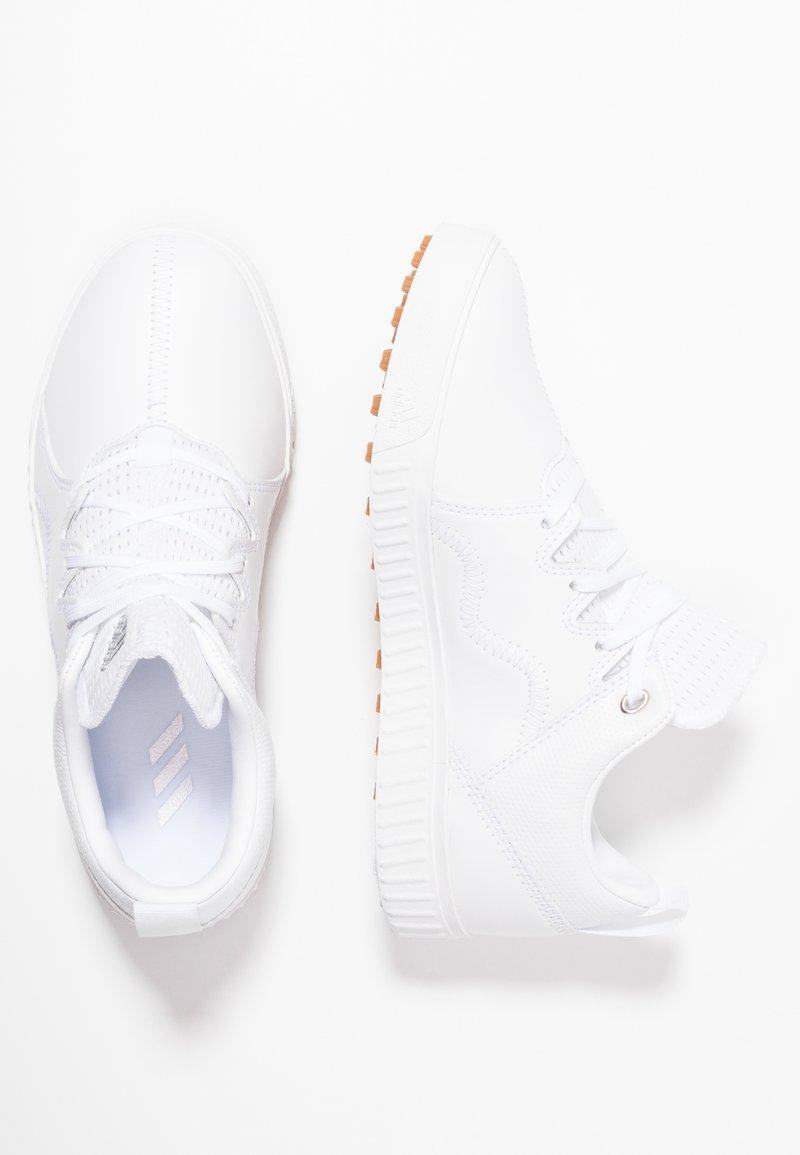 adidas Golf - ADICROSS PPF - Golfsko - footwear white/silver metallic