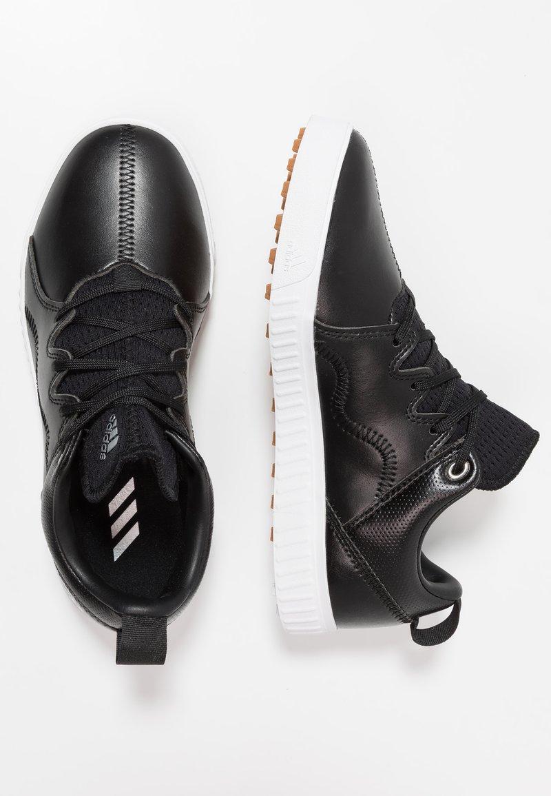 adidas Golf - ADICROSS PPF - Golf shoes - core black/silver metallic