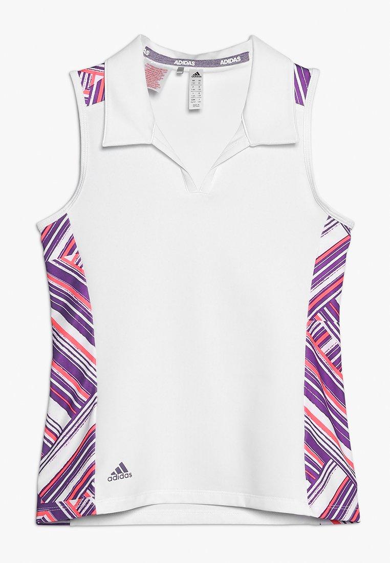 adidas Golf - NOVELTY SHORT SLEEVE - Polotričko - white/active purple