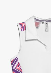 adidas Golf - NOVELTY SHORT SLEEVE - Polotričko - white/active purple - 2