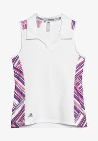 adidas Golf - NOVELTY SHORT SLEEVE - Polotričko - white/active purple - 3