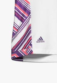 adidas Golf - NOVELTY SHORT SLEEVE - Polotričko - white/active purple - 4