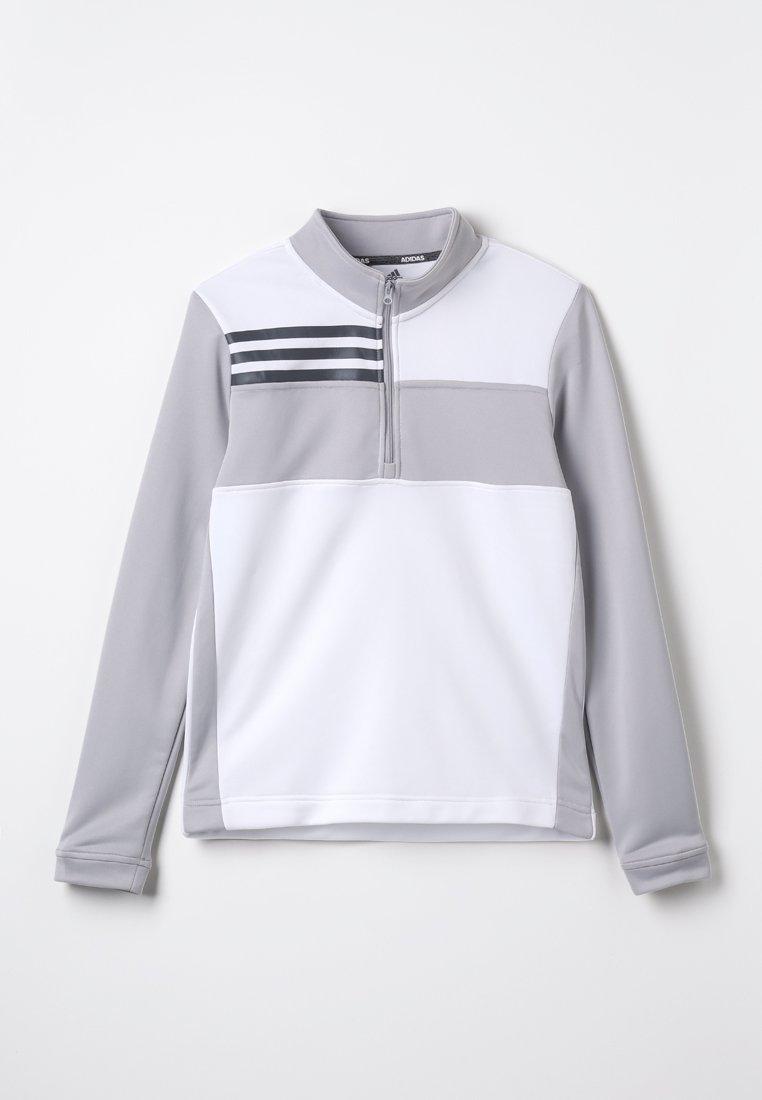 adidas Golf - HALF ZIP SWEATER - Collegepaita - white