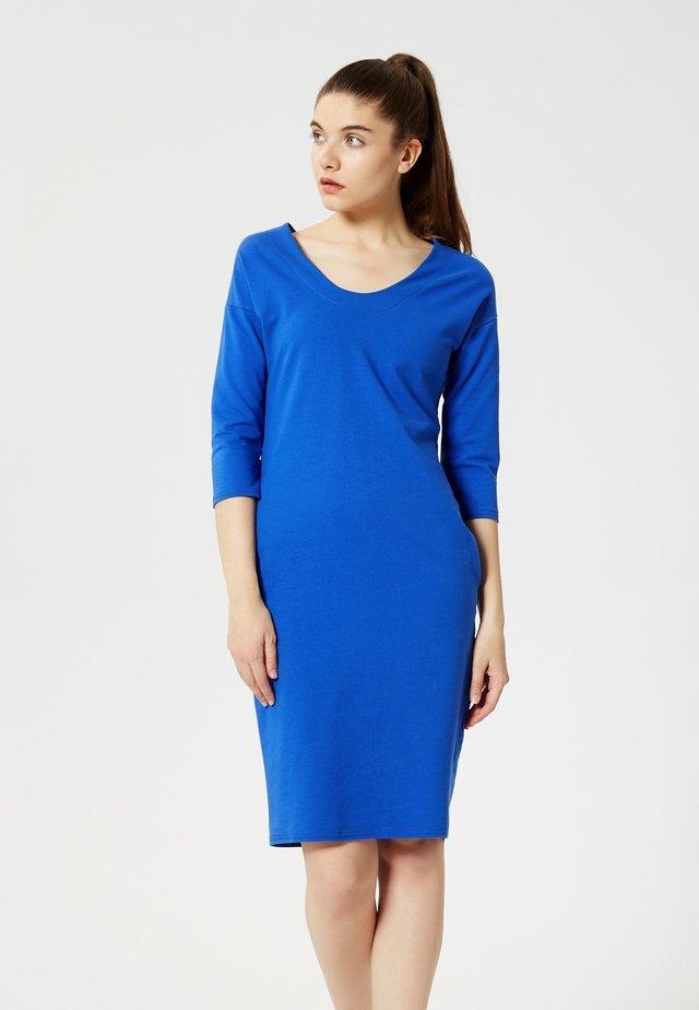 Jersey dress - bleu barbeau