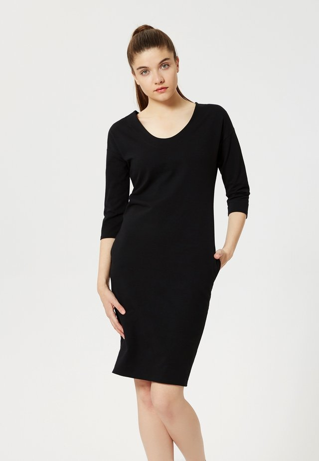 Žerzejové šaty - noir
