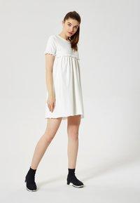 Talence - Jersey dress - écru - 2