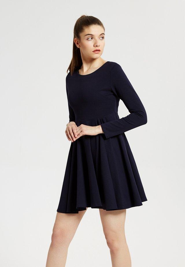 Jersey dress - bleu foncé