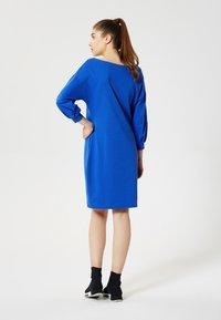 Talence - Day dress - bleu barbeau - 2