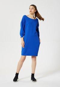 Talence - Day dress - bleu barbeau - 1