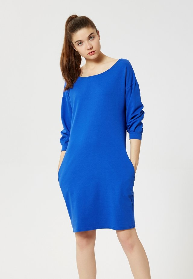 Korte jurk - bleu barbeau