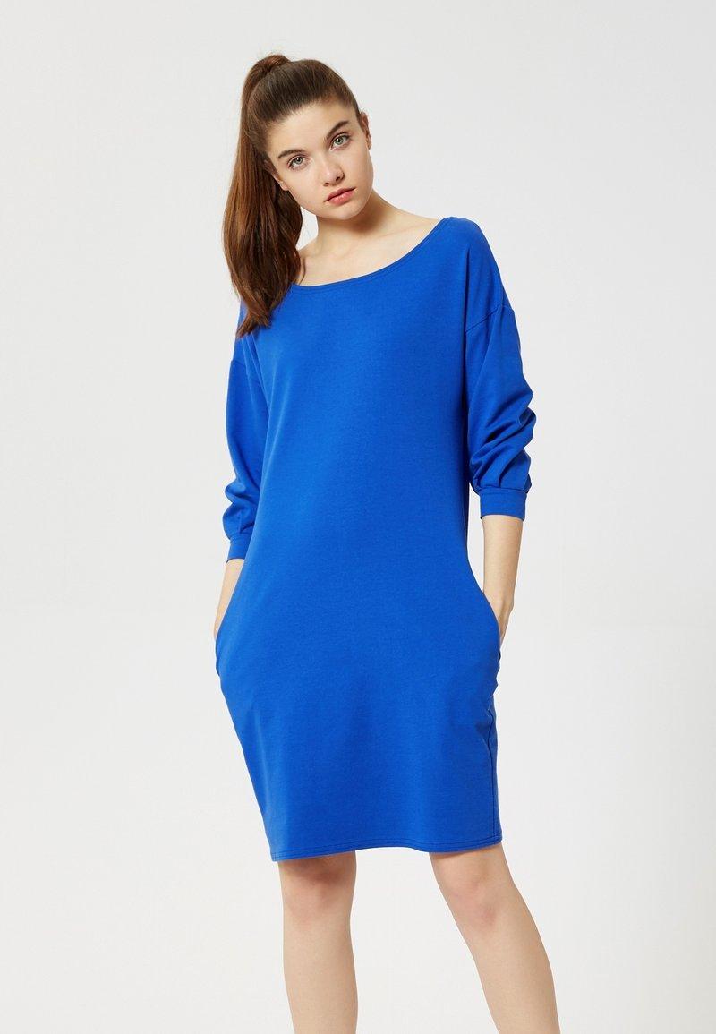 Talence - Day dress - bleu barbeau